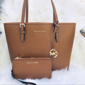 Michael Kors Carryall Tote and Wallet Bundle